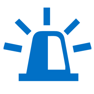 Blue icon of emergency light